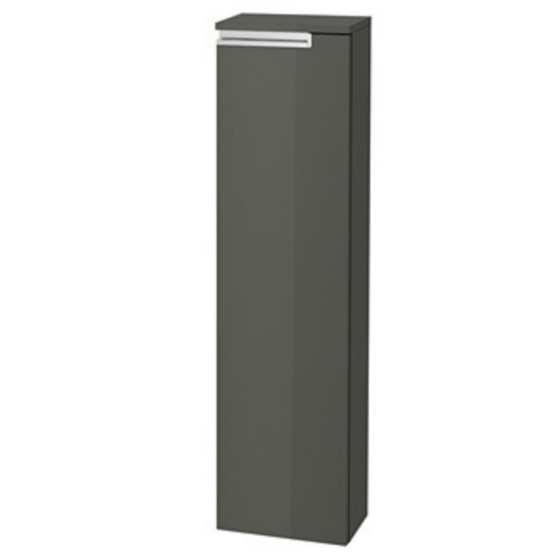 image for 856662153 Roca Victoria N Unik 253 X 1100mm Column Unit Lh Gloss Anthracite Grey