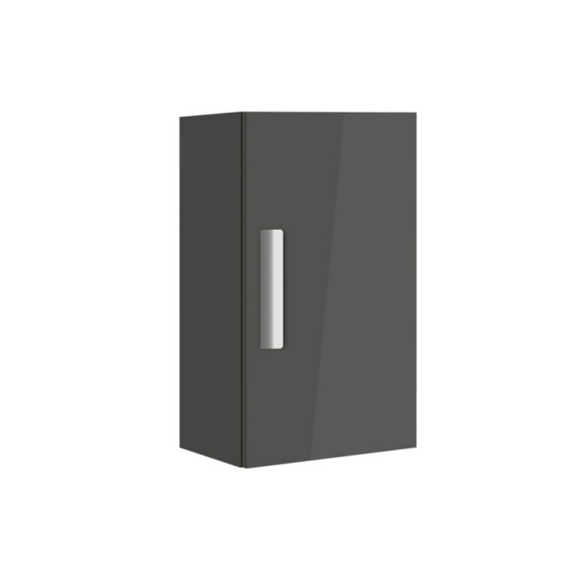 image for 856838153 Roca Debba Compact 346mm Column Unit In Gloss Anthracite Grey