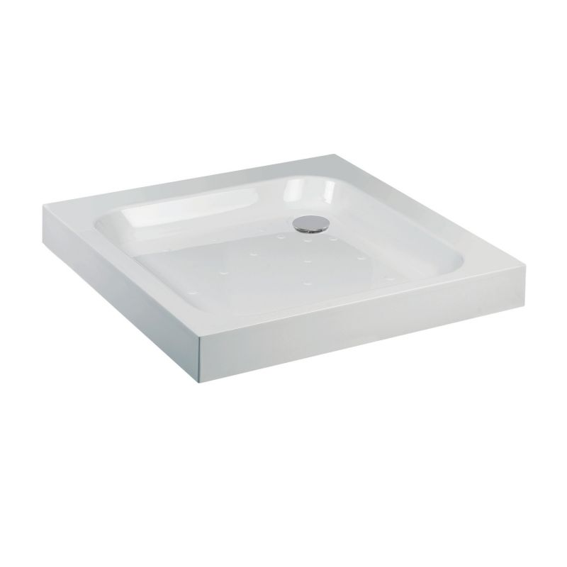image for A76100 Jt Ultracast White 760 X 760 Square Flat Top Shower Tray