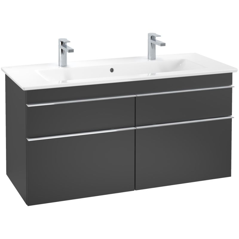 image for A92901PD Villeroy and Boch Venticello Wall Hung Vanity Unit 1153 x 590 x 502 mm Black Matt Lacquer