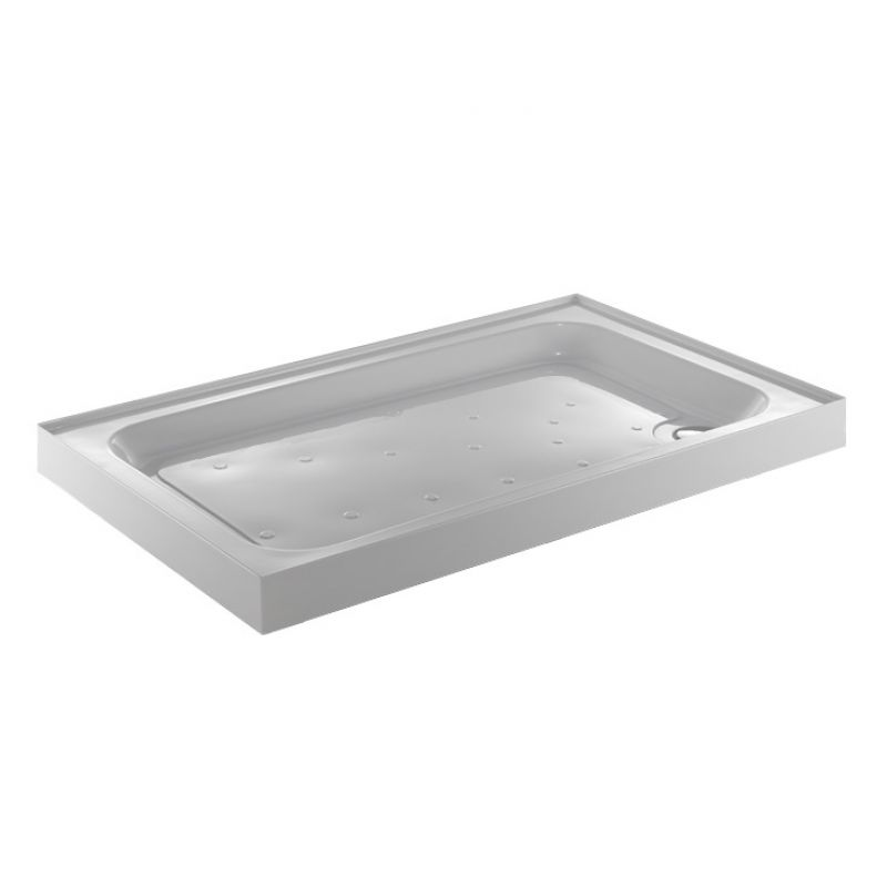 image for A970140 Jt Ultracast White 900 X 700 Rectangular Shower Tray With 4 Upstands