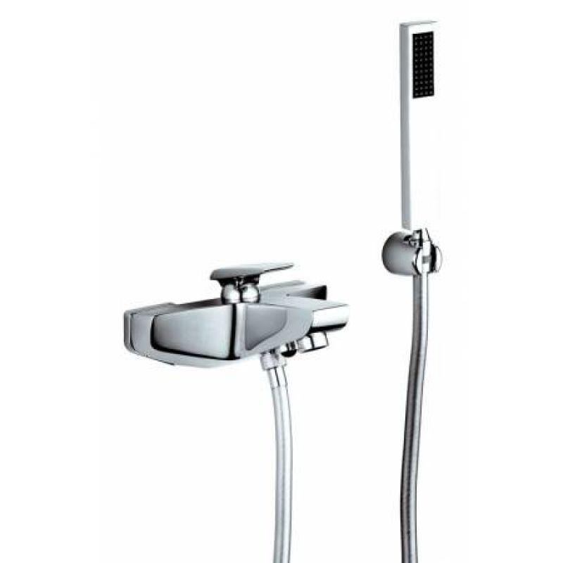 image for AB1034 Extase Wall Mounted Bath Shower Mixer with Shower Handset