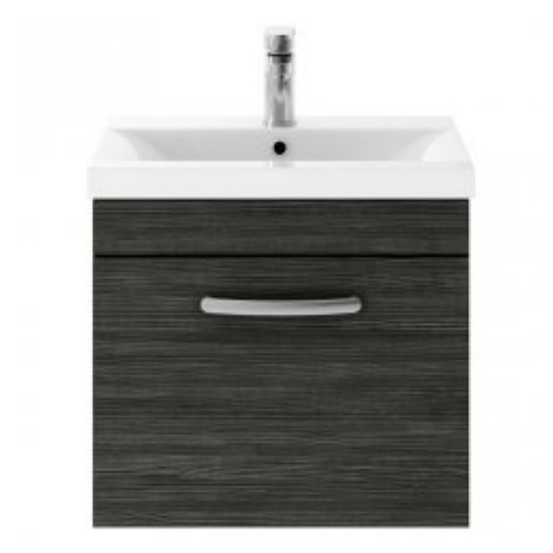 image for ATH040A Premier 610mm Wall Hung Vanity Unit In Hacienda Black & Basin