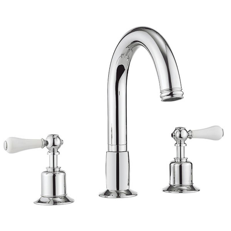 image for BL330DC-LV Crosswater Belgravia Lever Chrome 3 Tap Hole Bath Filler Tap