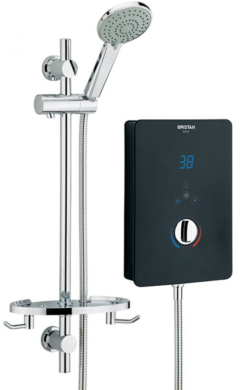 image for BL395-B Bristan Bliss Electric Shower 9.5 Kw Black