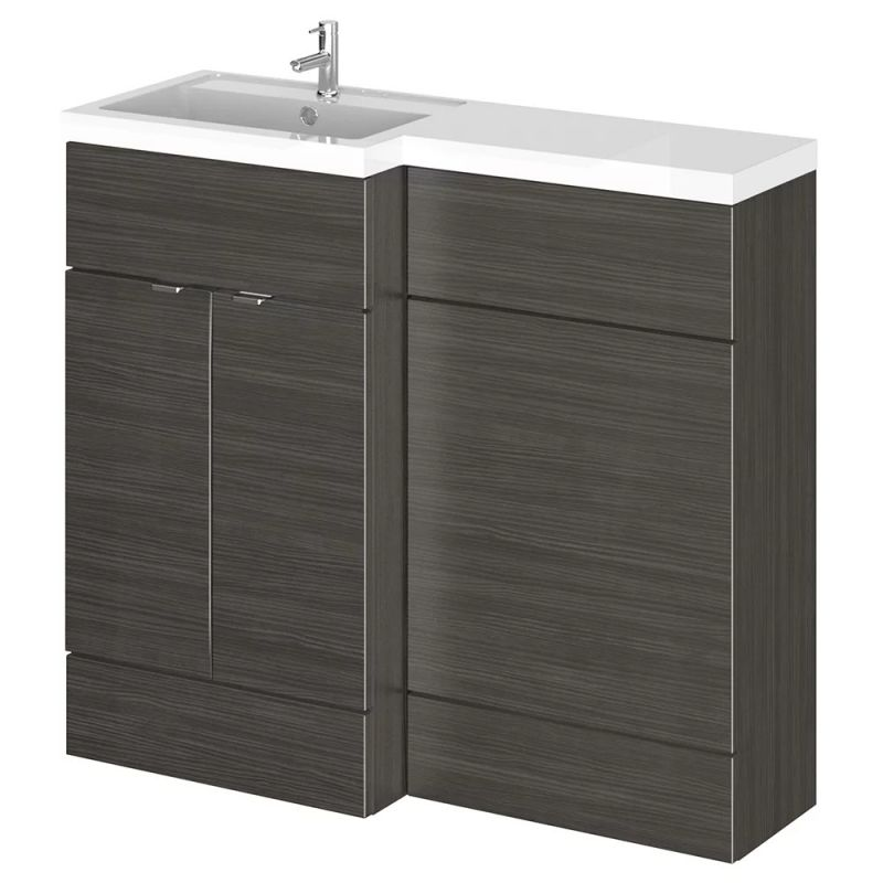 image for CBI626 Hudson Reed 1000mm Floor Standing Combination Vanity Unit Lh