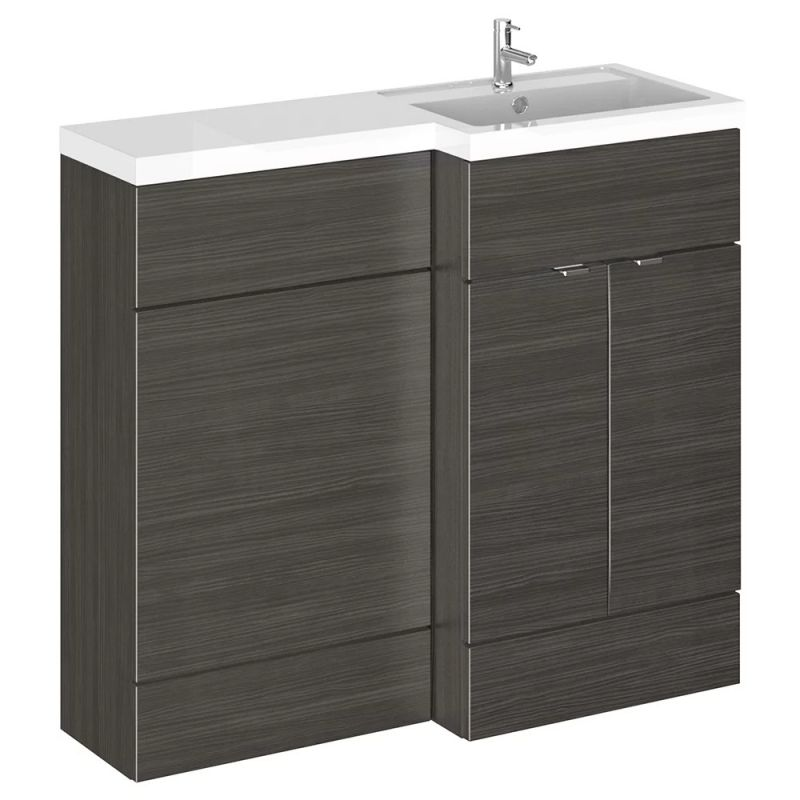 image for CBI627 Hudson Reed 1000mm Floor Standing Combination Vanity Unit Rh