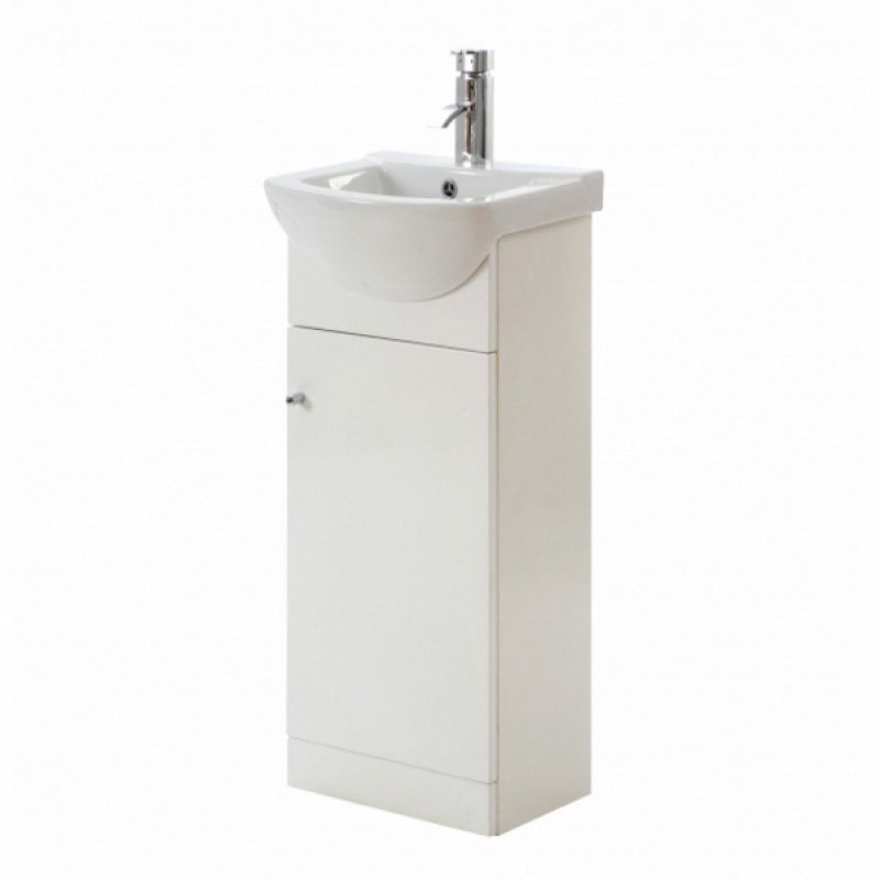 image for CV29430-000 Frontline Aquapure 1 450mm Gloss White Floor Standing Vanity Unit