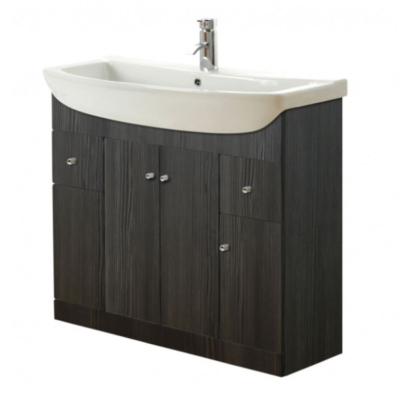 image for CV29435FR-402 Frontline Aquapure 1 1050mm Avola Grey Floor Standing Vanity Unit