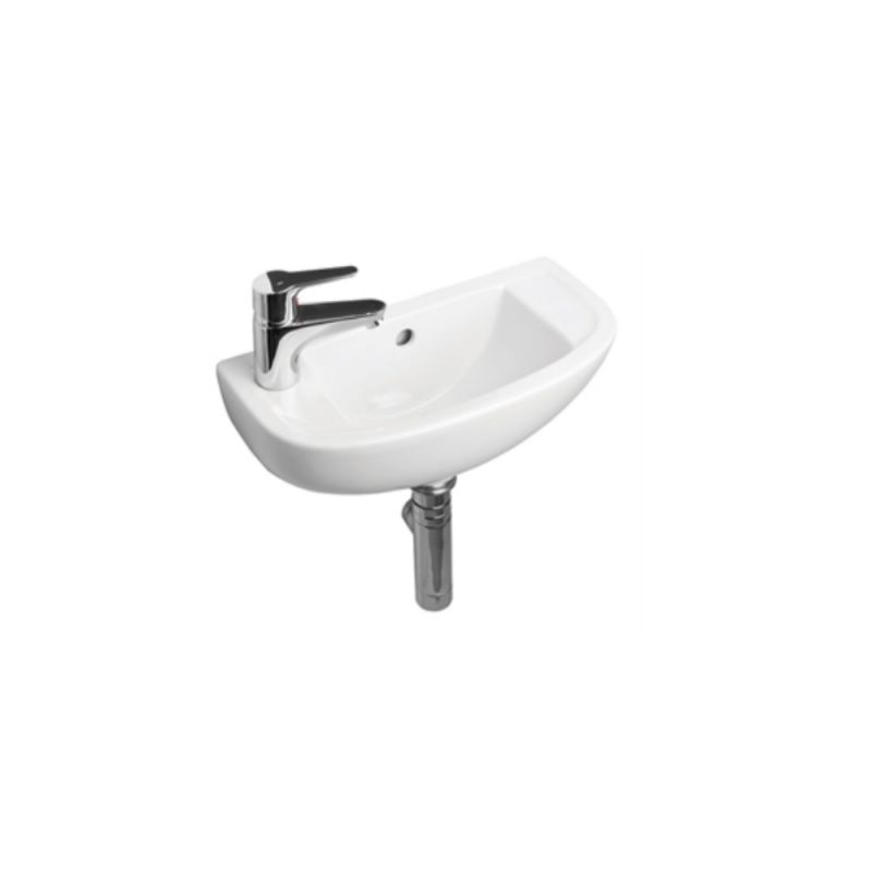 image for EC1012 Essential Lily 450mm Slimline Cloakroom Wall Mounted Basin Lh 1th