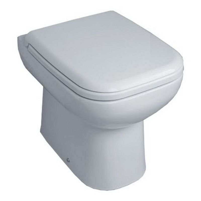 image for EC6007 Essential Violet Back To Wall Wc Toilet Pan Including Soft Close Seat