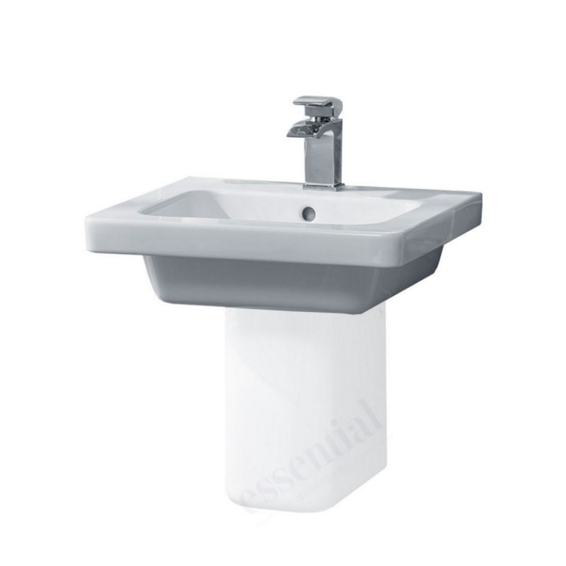 image for EC7002 Essential Ivy 1 Tap Hole Square White 50cm Basin