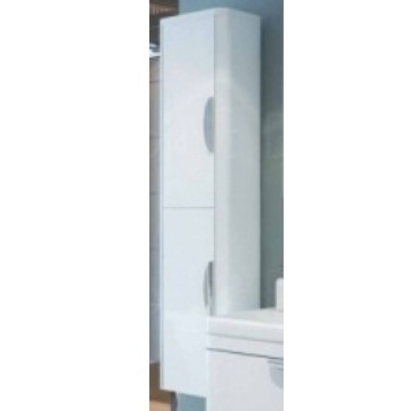 image for EDA009 Sorentto Wall Mounted Tall Cupboard Unit In White