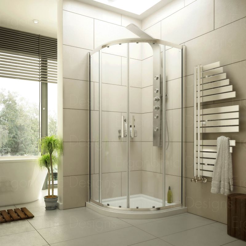 image for EDQU10 New 1000 X 1000 Shower Enclosure With 6mm Glass