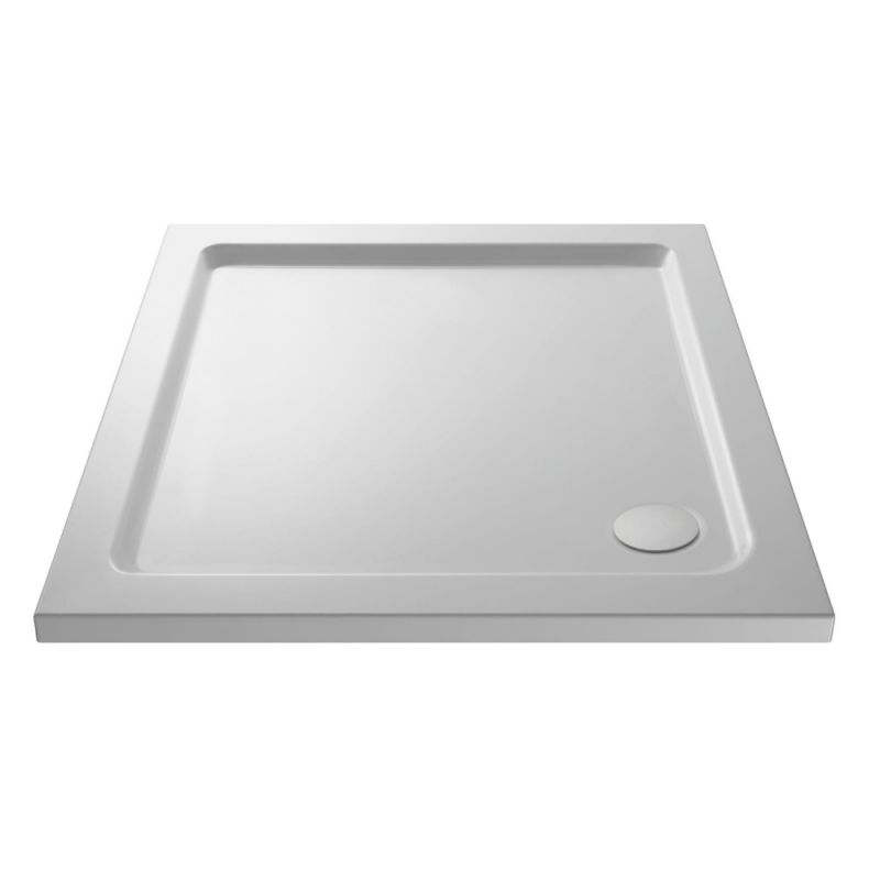 image for EDT002-E330 700 X 700 Slimline Square Stone Resin Shower Tray With Free Waste