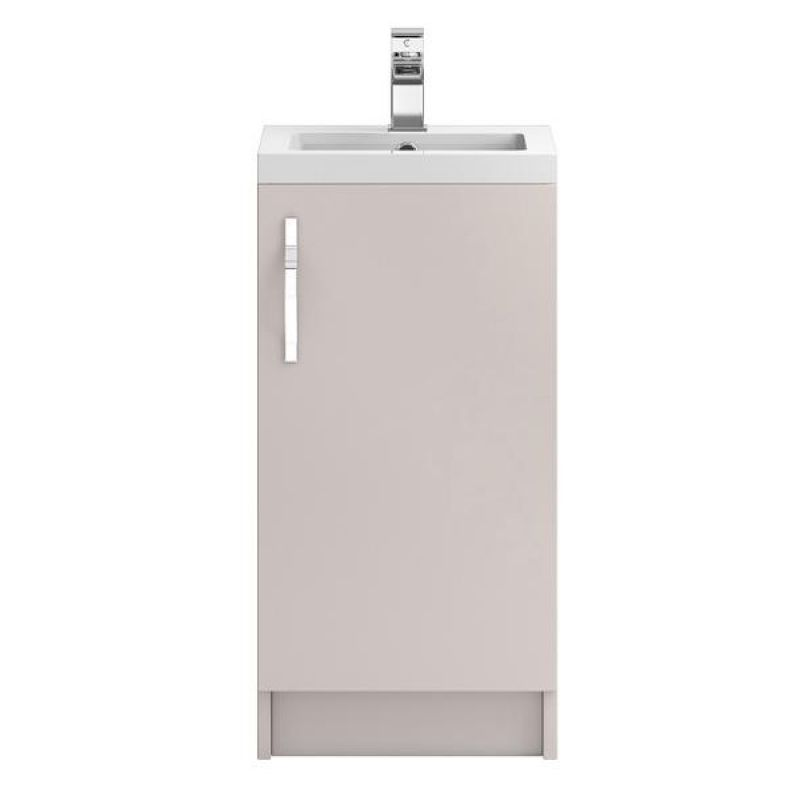 image for FMA722 Hudson Reed Apollo 400mm Gloss Grey Floor Standing Vanity Unit