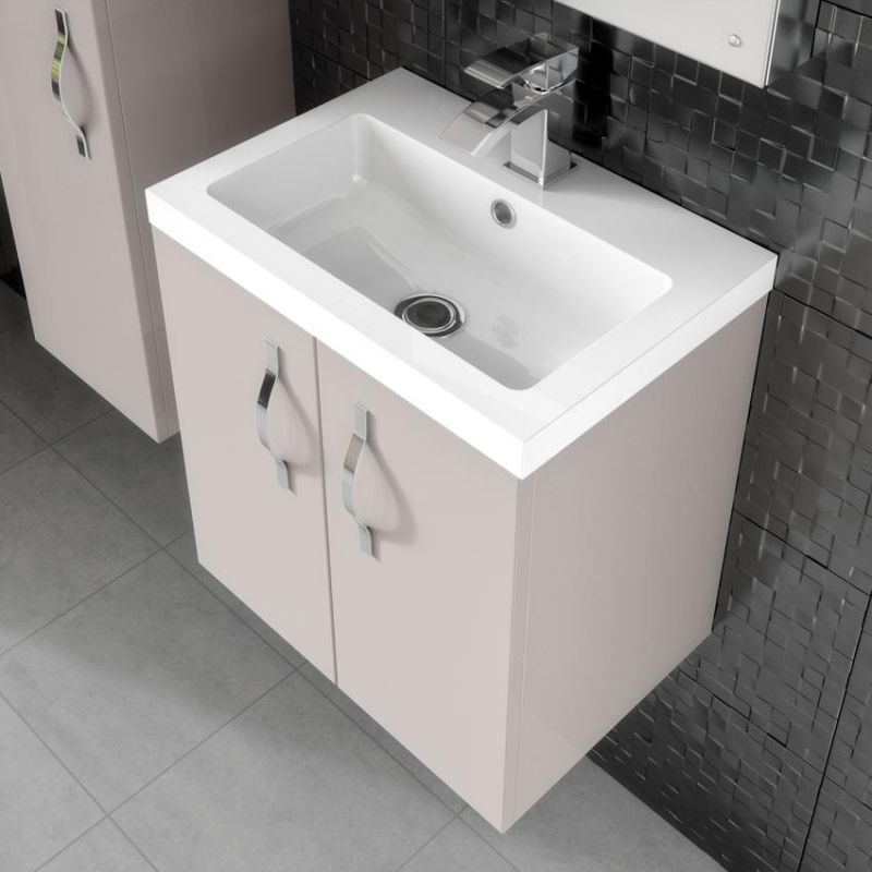image for FMA736 Hudson Reed Apollo 600mm Cashmere Wall Hung Vanity Unit