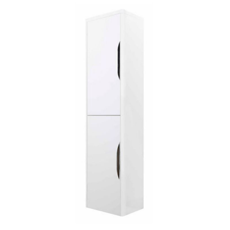 image for FPA009 Premier Parade Wall Mounted Tall Cupboard Unit In White