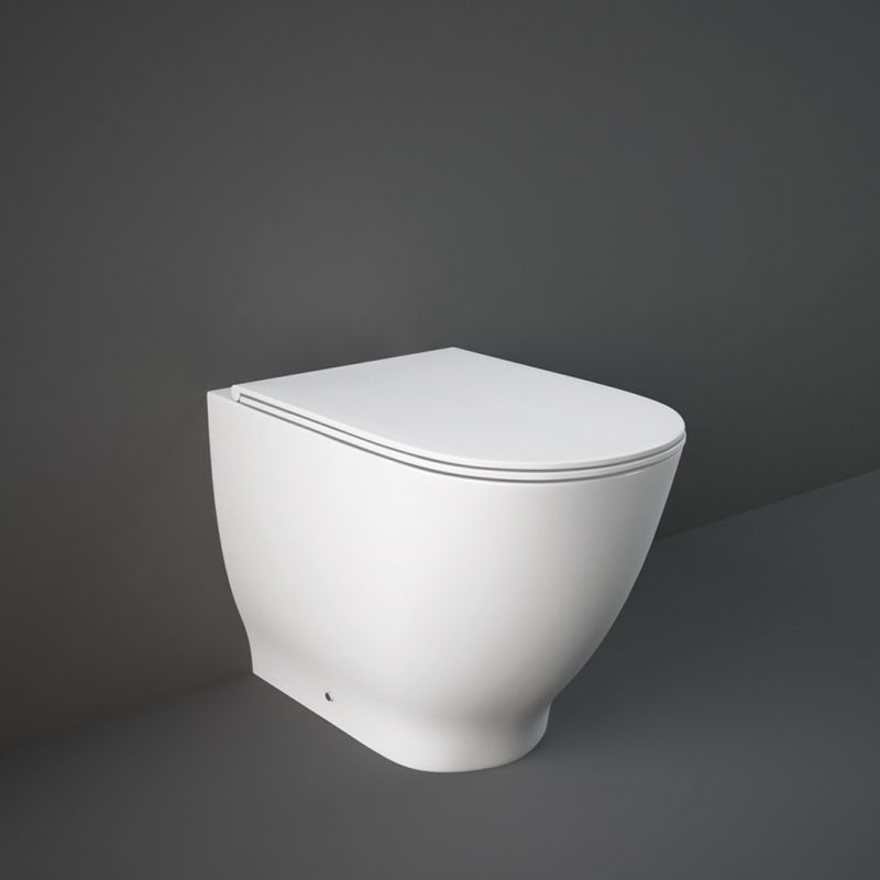 image for HARBTWPAN-SC Rak Harmony Back To Wall Toilet Pan And Soft Close Seat