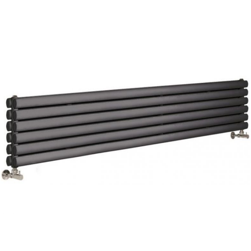 image for HLA76H Hudson Reed 354 x 1500 Horizontal Double Panel Radiator Anthracite BTU 3099