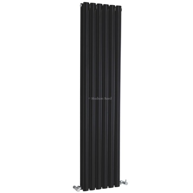 image for HLB76 Hudson Reed Revive 354x1500mm Double Panel Vertical Black Radiator