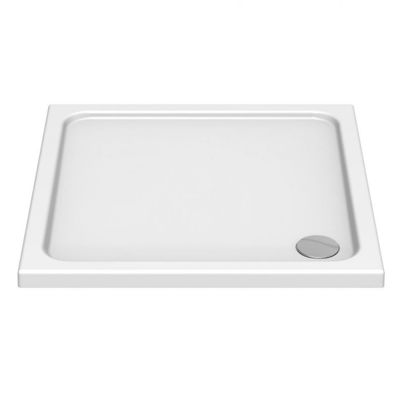 image for KS76 Kudos Kstone 760x760mm Square Shower Tray With Corner Waste