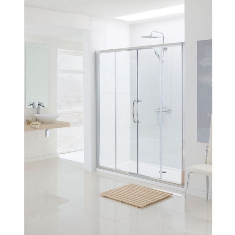 image for LKV2DS170-05 Lakes Bathrooms Classic 1700mm Semi Frameless Double Sliding Shower Door