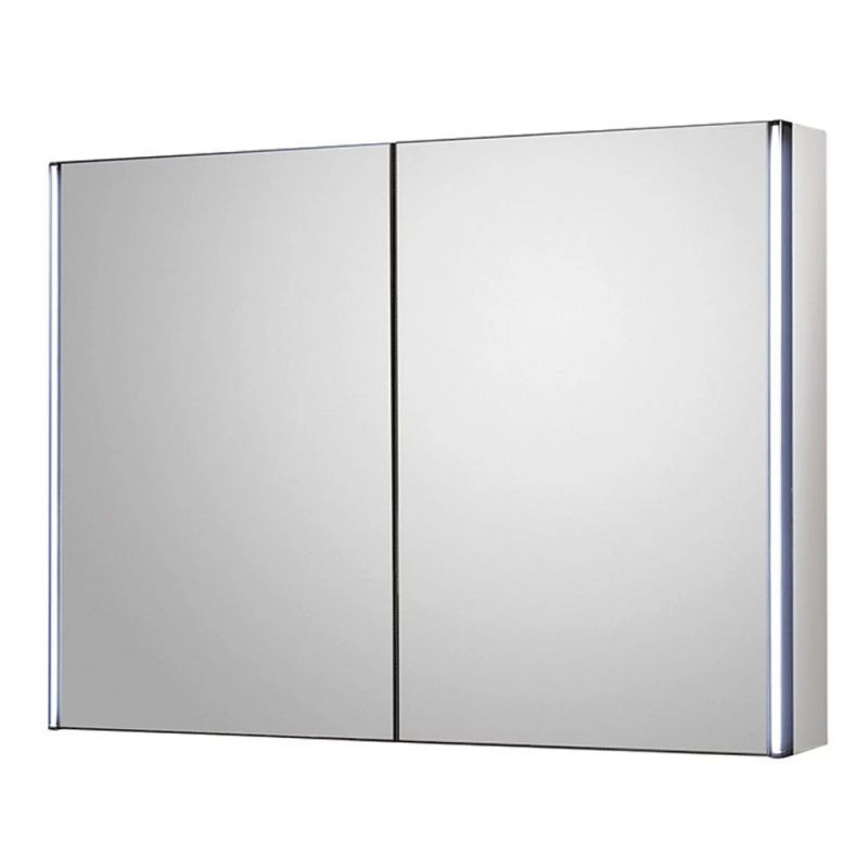image for LQ094 Hudson Reed Meloso 800 X 600mm Bathroom Mirror Cabinet