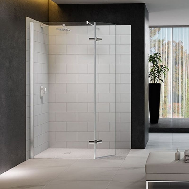 image for M8SW271 Merlyn 8 Series 1350mm Wet Room Screen With Hinged Swivel Return Panel
