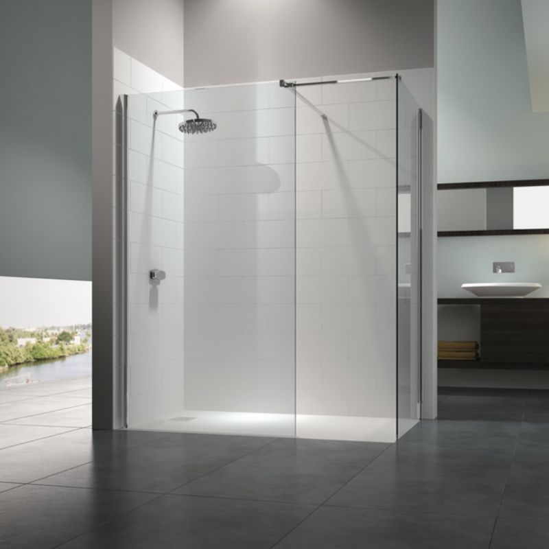 image for MS80273 Merlyn 8 Series 1600 X 800 Walk In Shower Enclosure With Mstone Tray