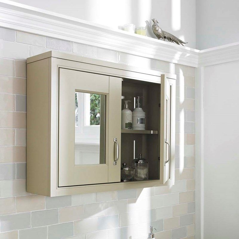 image for NLV215 Old London Pistachio 800mm Traditional Wall Mounted Mirror Cabinet