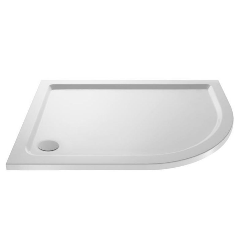 image for NTP104 Ultra Pearlstone 900 X 800mm Offset Quadrant Shower Tray Right Hand