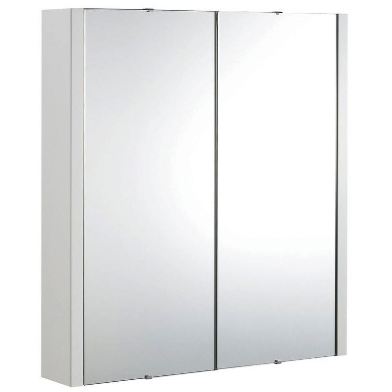 image for NVM113 Premier Design High Gloss White 600mm 2 Door Mirror Cabinet