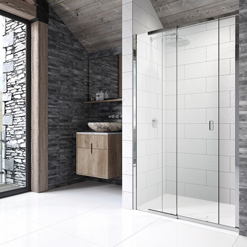 image for P8SR110 Kudos Pinnacle8 1100mm Sliding Shower Door For Recess