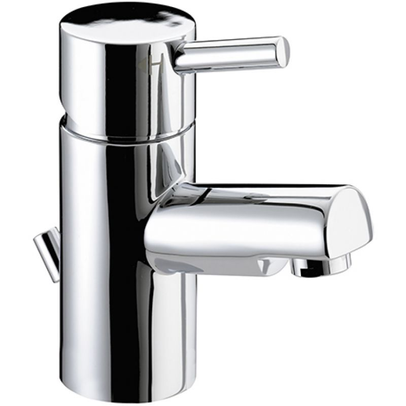 image for PM-BAS-E4-C Bristan Prism Deck Mounted 1 Tap Hole Basin Tap With Pop-up Waste