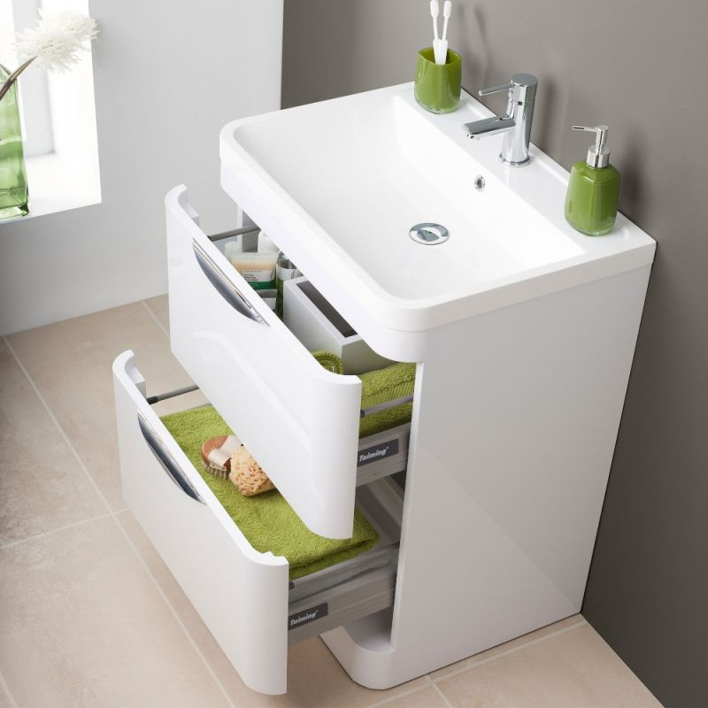 Fantastic Premier Parade 600Mm 2 Drawer Floor Standing Vanity Unit Download Free Architecture Designs Itiscsunscenecom