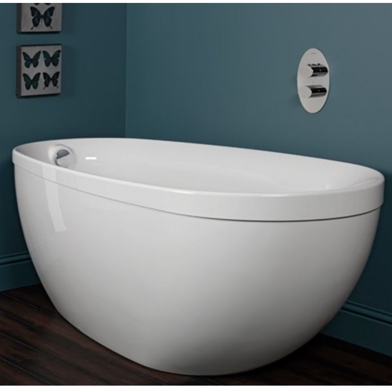 image for Q4-02132 Carron Paradigm 1550 X 850mm Carronite Freestanding Bath And Waste