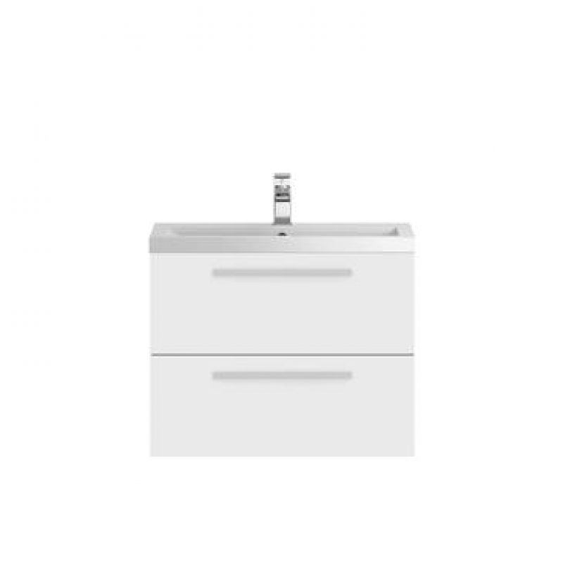 image for QUA005 Hudson Reed 720mm Wall Hung Vanity Unit and Basin White