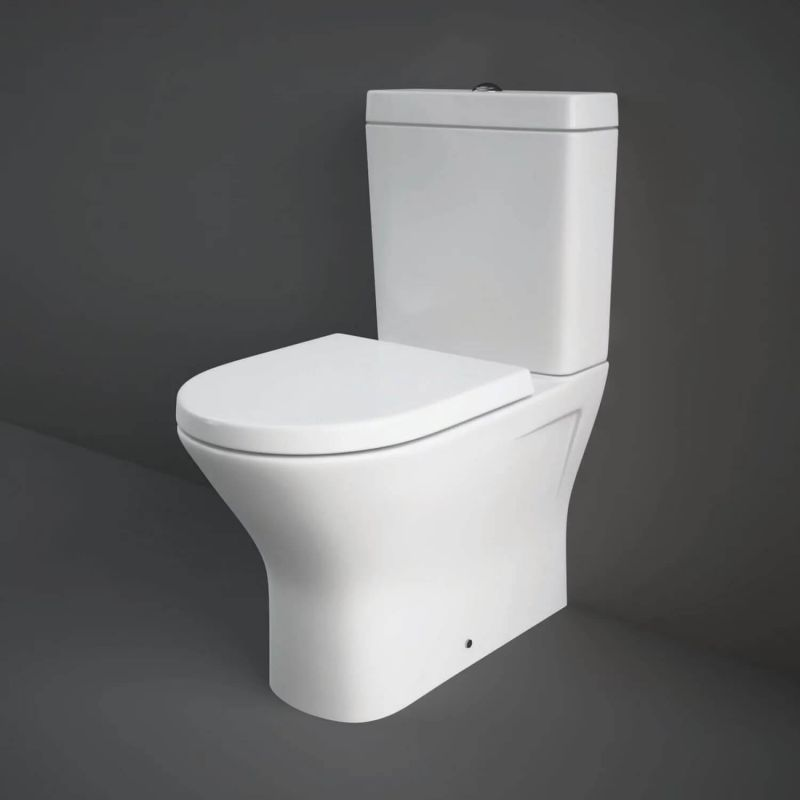 image for RSTBTWPAK-MI Rak Resort Mini Close Coupled Rimless Wc Toilet With Soft Close Seat