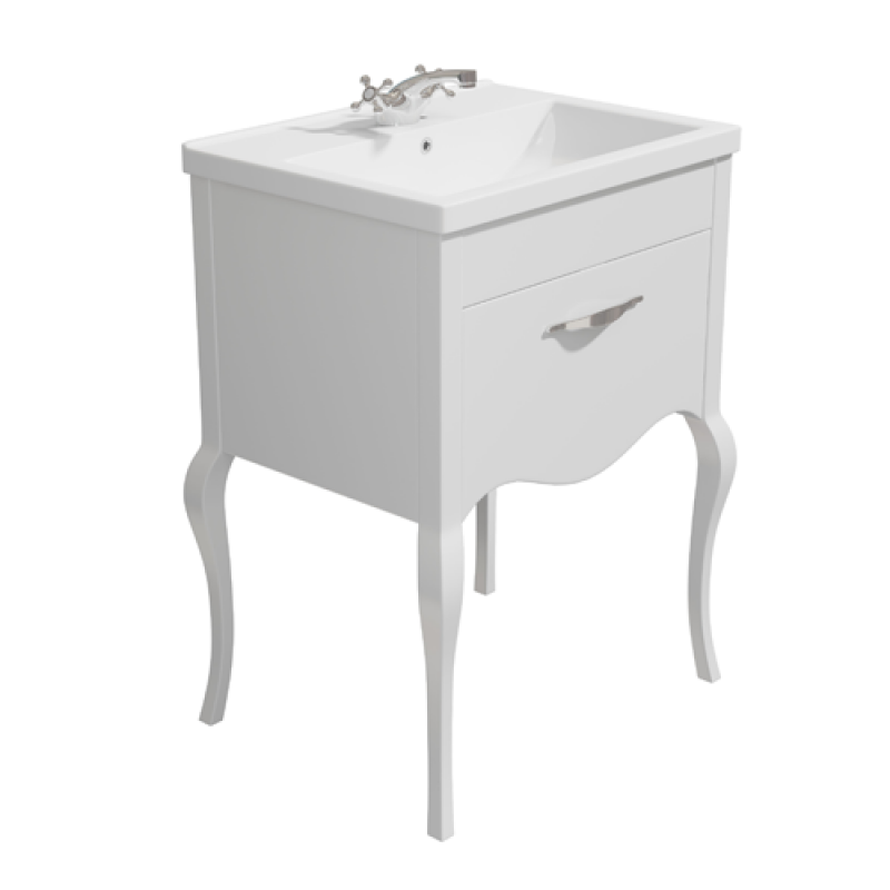 image for SY-TOP150 Synergy Paris Traditional Basin 600mm White