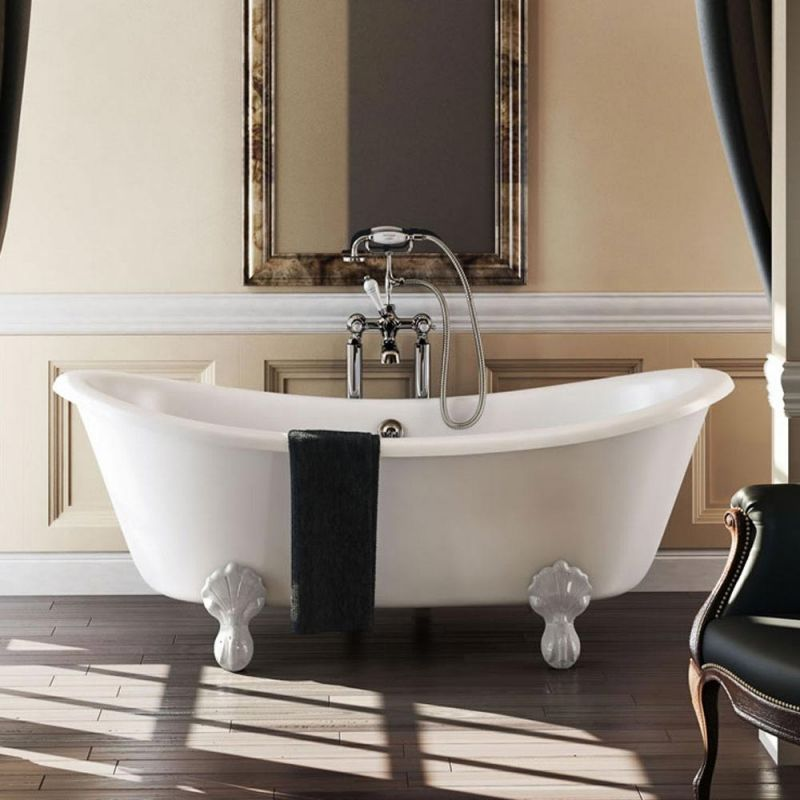 image for T10F Burlington Bateau 1640mm Roll Top Freestanding Bath