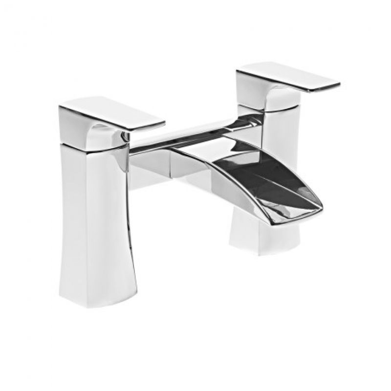 image for T173202 Roper Rhodes Sign Square Deck Mounted Deck Mounted Waterfall Bath Filler Tap