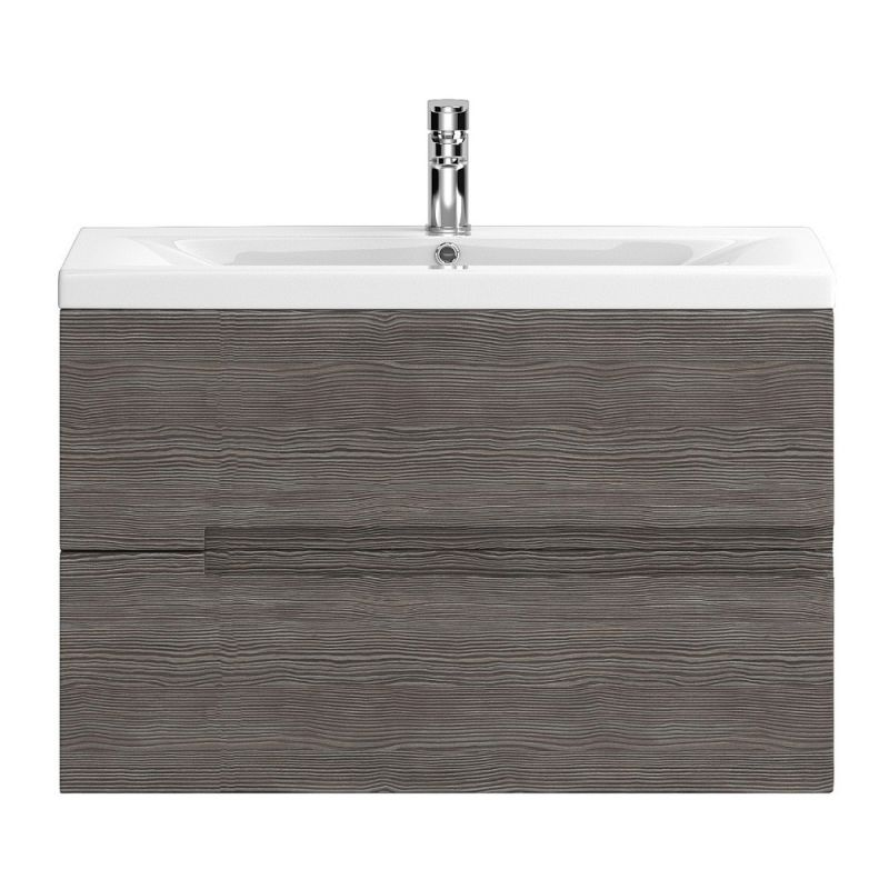 image for URB518 Hudson Reed Urban 805mm Wall Hung Vanity Unit Grey Brown Avola