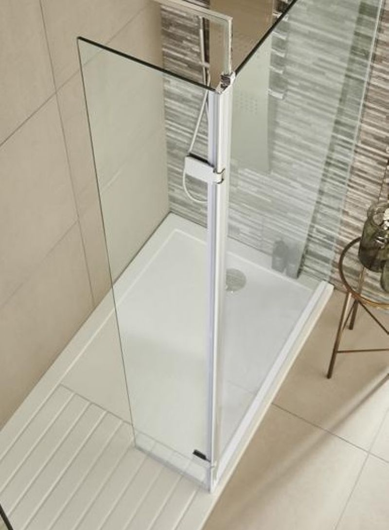 image for WRS030H Premier Hinged 300mm Wetroom Return Screen