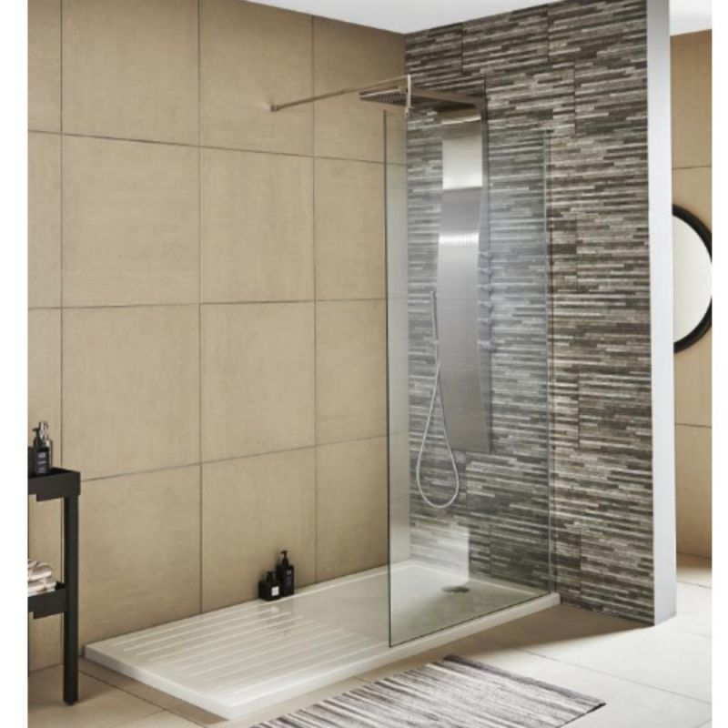 image for WRSC080 Premier Chrome Wetroom Screen 800x1850mm