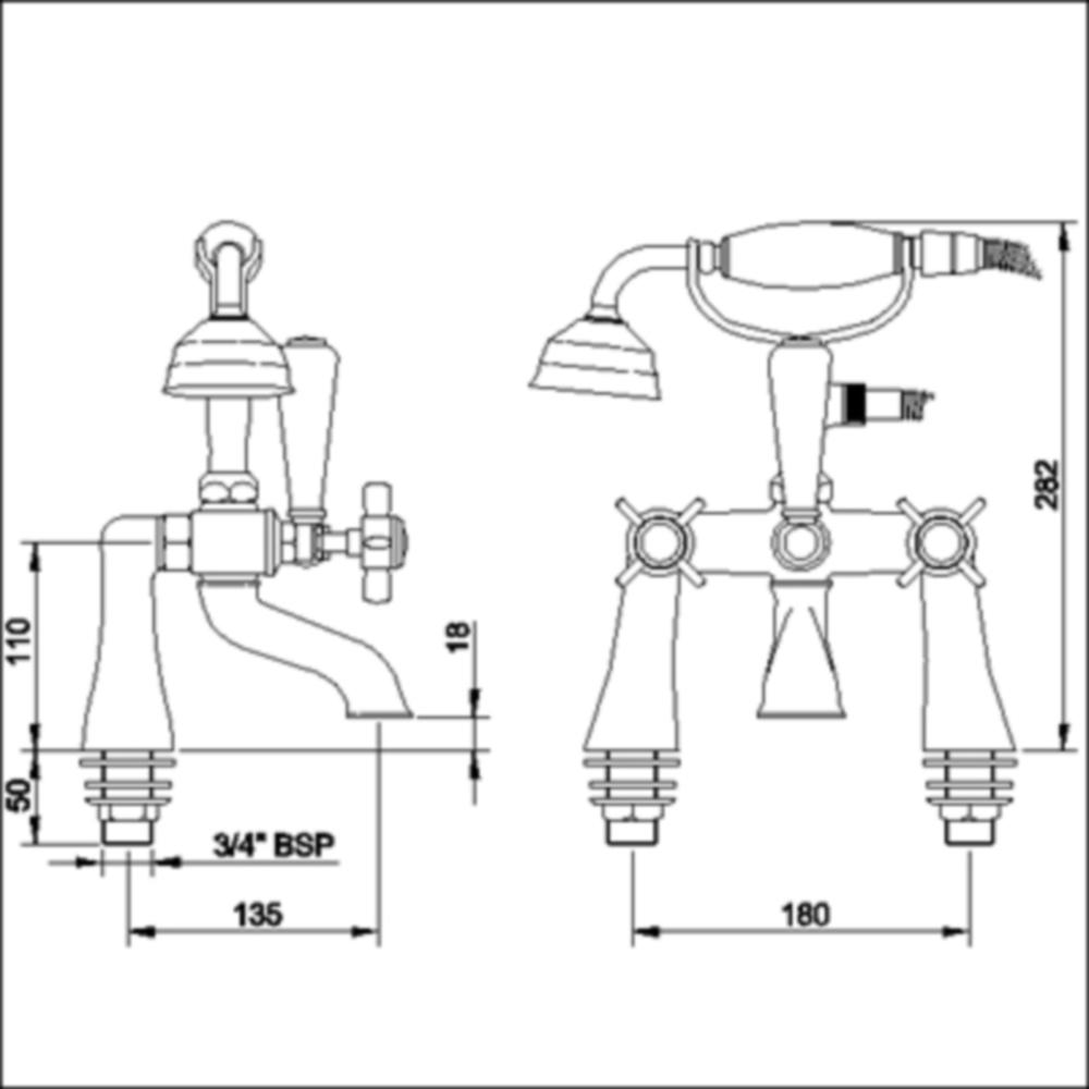 Ergonomic designs traditional bath taps with shower for Ergonomic designs bathroom