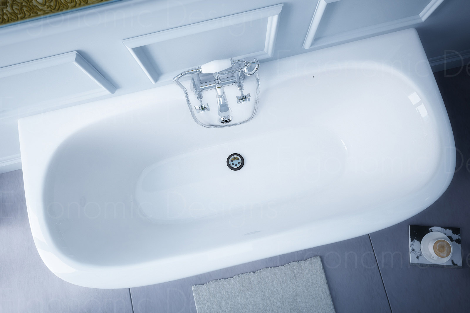 Newbury Traditional Back To Wall Roll Top Bath Suite At: 1700 X 745 Back To Wall Traditional Freestanding Roll Top