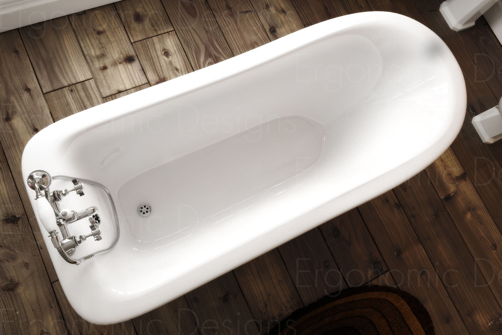 Traditional Roll Top Bath: 1500 X 730 Bathroom Traditional Freestanding Roll Top
