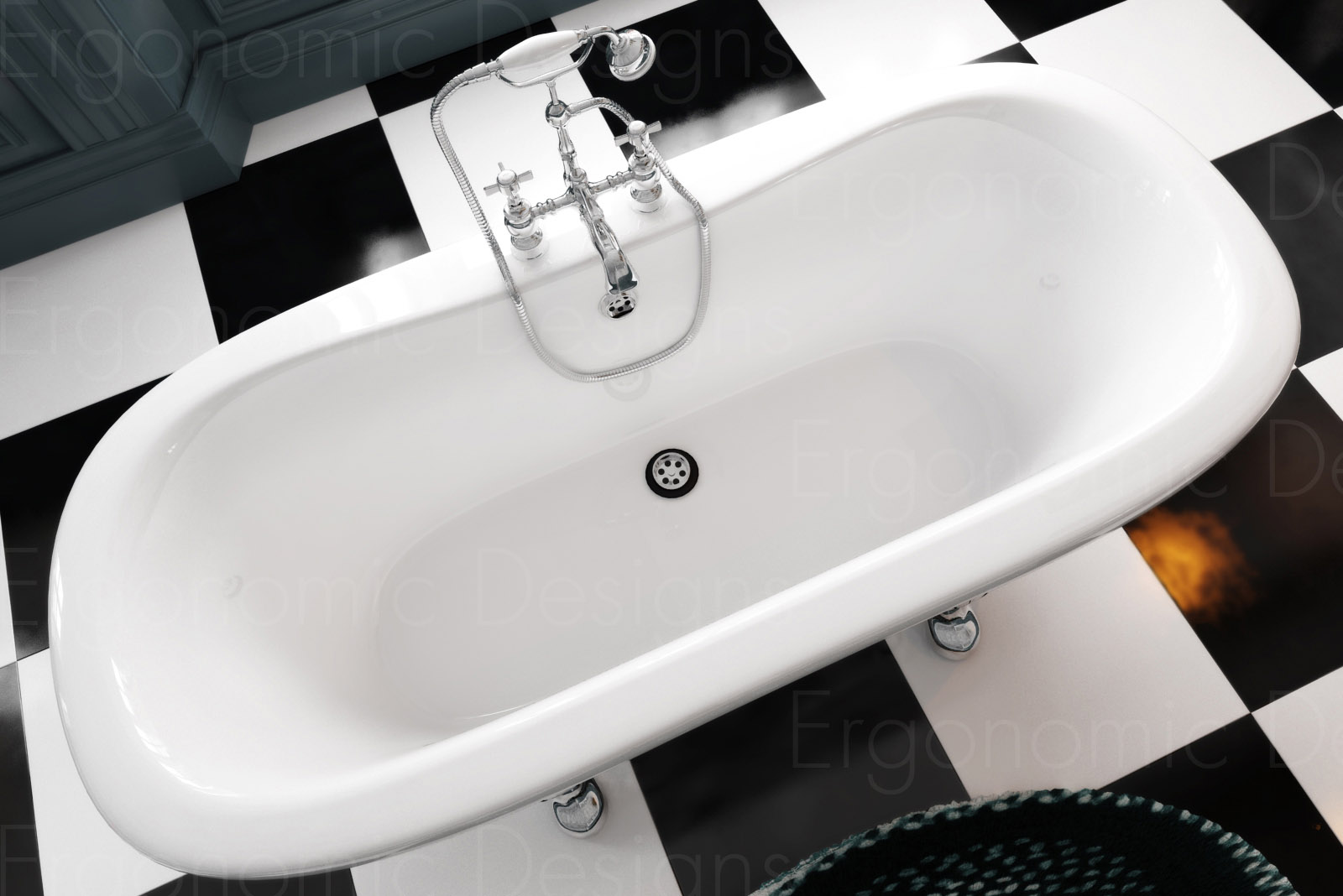 Newbury Traditional Back To Wall Roll Top Bath Suite At: 1500 X 745 Bathroom Traditional Freestanding Roll Top