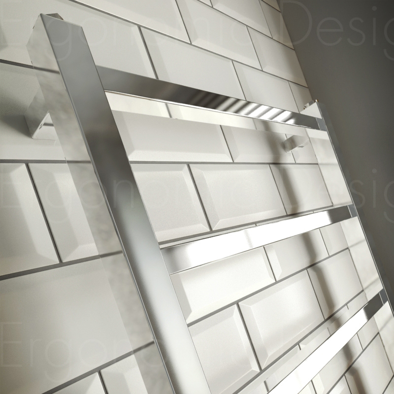 Ergonomic designs square 1200 x 600 bathroom chrome for Ergonomic designs bathroom